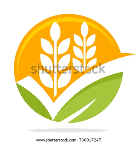icon logo with the concept of smart choice / good choice for commodity business, organic rice/ wheat food product