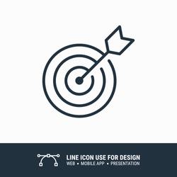 Icon marketing target graphic design single icon vector illustration