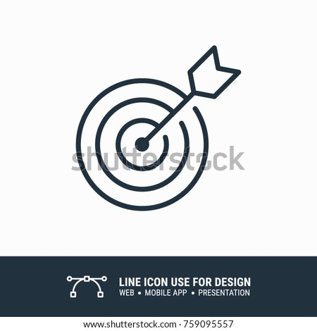 Icon marketing target graphic design single icon vector illustration