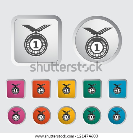 Icon medal. Vector illustration.