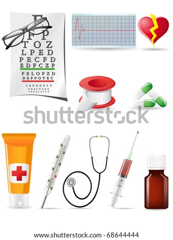icon medical set vector illustration