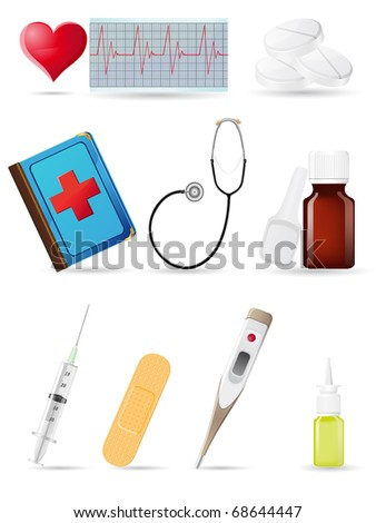 icon medical set vector illustration