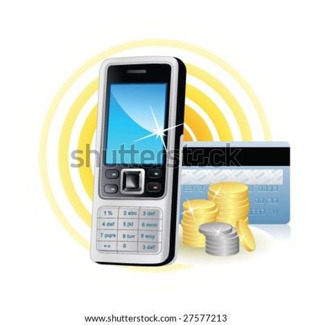 Icon mobile Phone (money)