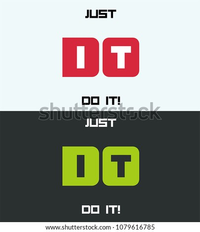 icon motivating text  just do
