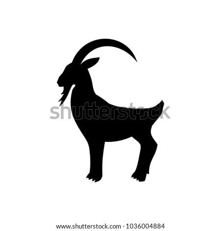 icon mountain goat, animal,vector illustration