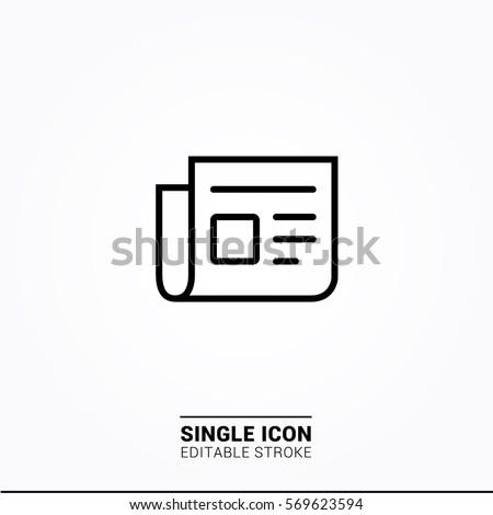 Icon news Single Icon Graphic Design