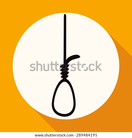 icon noose on white circle with