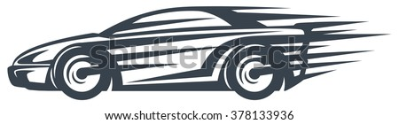 icon of a fast racing car in