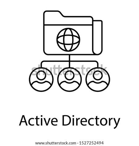 Icon of active directory in line design