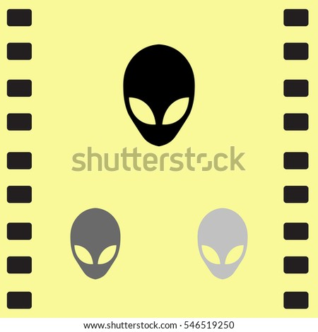 icon of alien on yellow