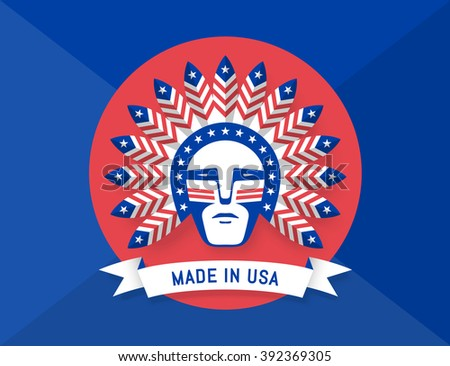icon of american man with