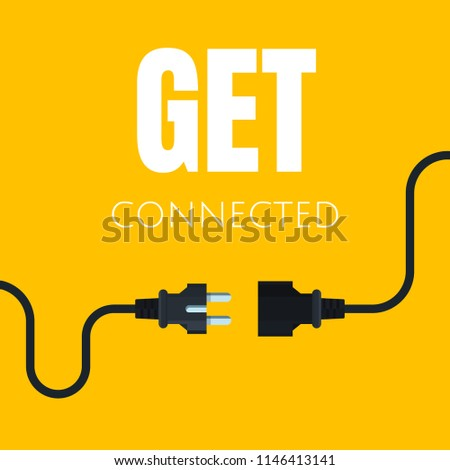 Icon of an electric socket with a plug. Modern vector illustration