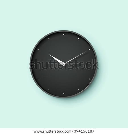 icon of black clock face with