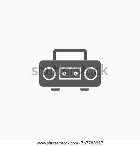 icon of cassette player.