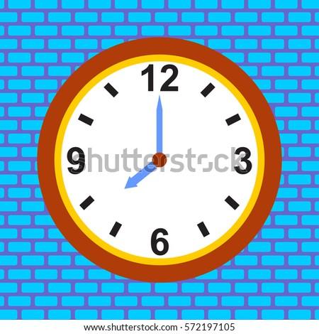 icon of clock vector