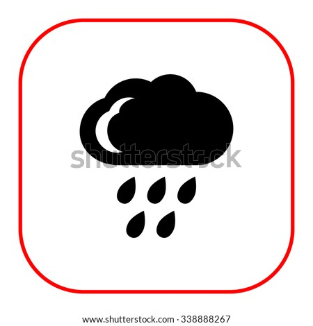 icon of cloud and falling