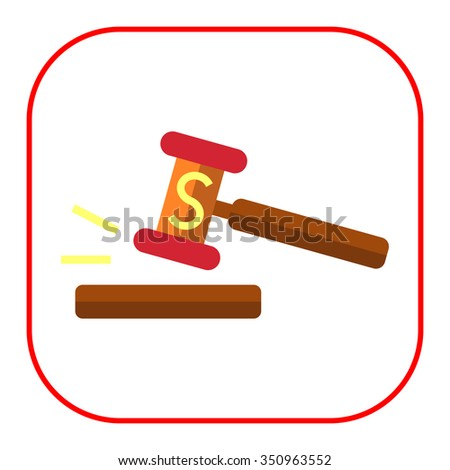 Icon of gavel with S letter