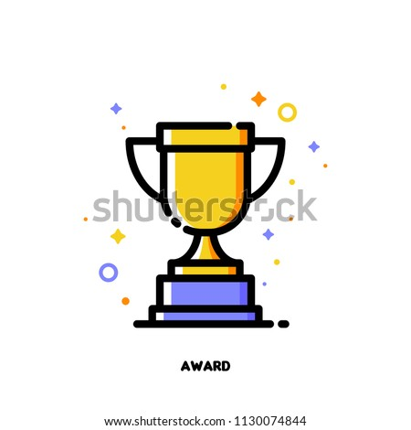 icon of golden trophy cup for