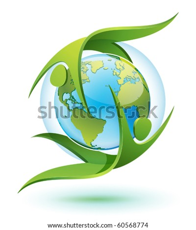 icon of green eco people