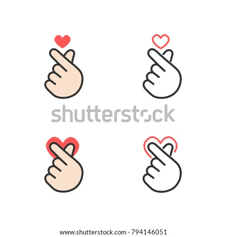 icon of hand making small heart
