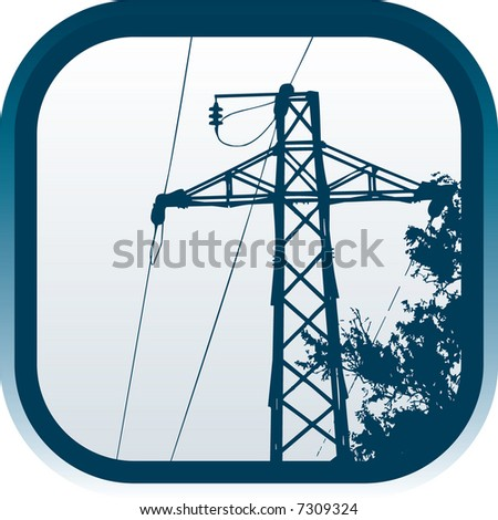 Icon of high-tension transmission line