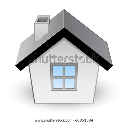 icon of house - stock vector