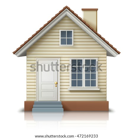 icon of house on white