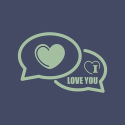 Icon of I Love You Comments. Eps-10.