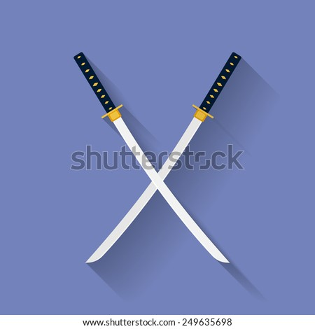 icon of katana swords sword