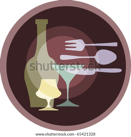 icon of kitchen silverware