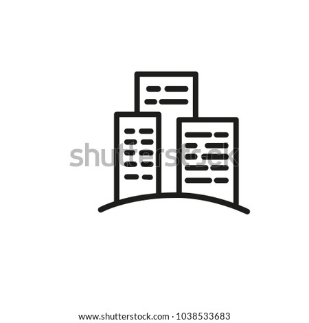 Icon of modern apartment complex. Dwelling, exterior, flat. Architecture concept. Can be used for topics like establishment, outdoors, city