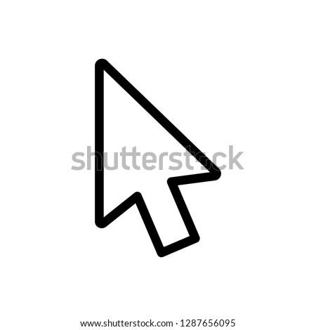 Icon of Mouse Cursor, Mouse Pointer, Mouse Arrow. Editable vector 500x500 Pixel