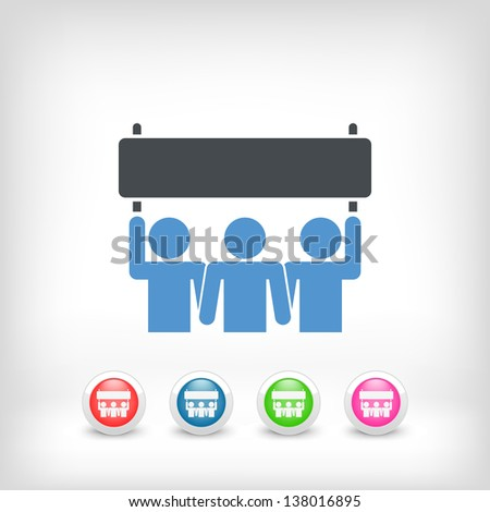 Icon of people demonstration concept