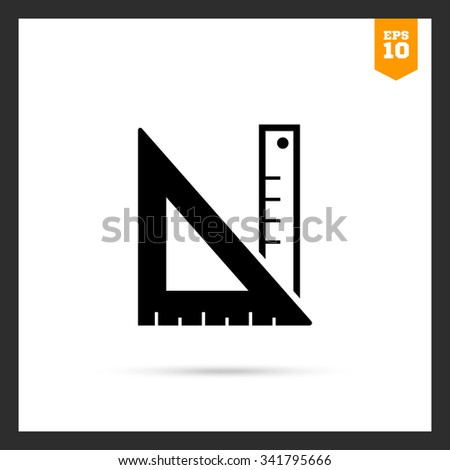 Icon of ruler and set square