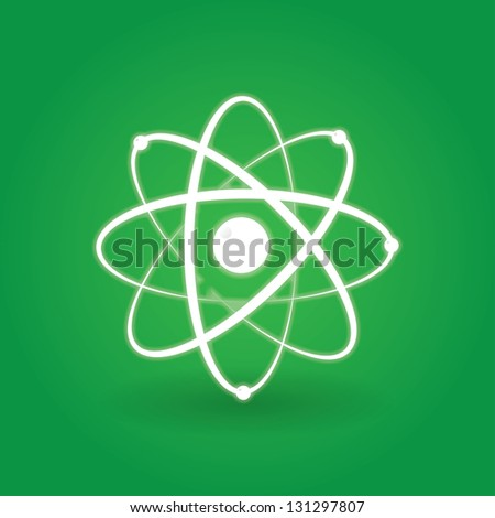 icon of the atomic model. for logo. eps10