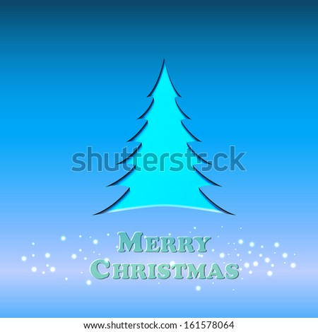 Icon of the Christmas tree - stock vector