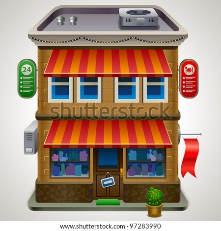 Icon of the facade of a shop store or cafe