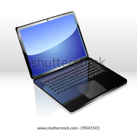 Icon of the laptop - stock vector