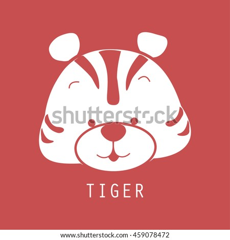 icon of tiger with red