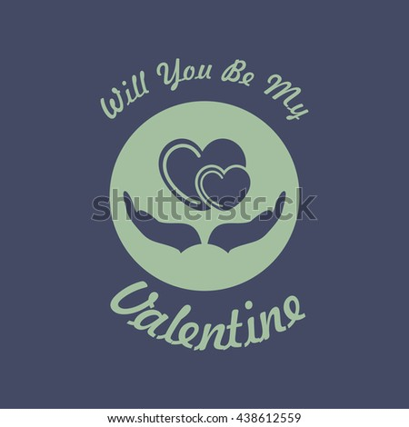 icon of valentine greeting card