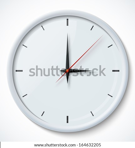 icon of white clock with shadow