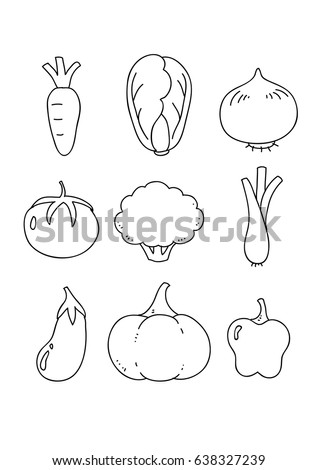 icon outline vegetable, vector