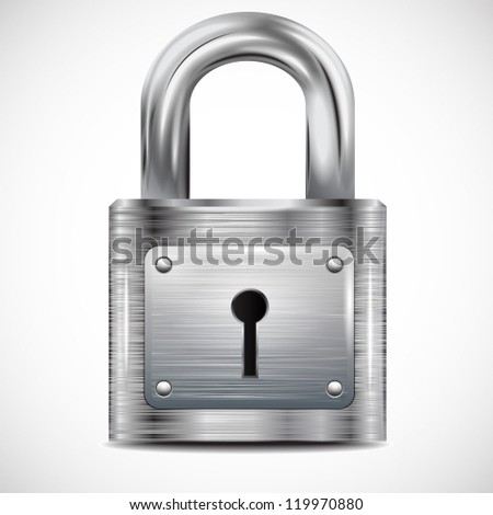 icon padlock, metal structure