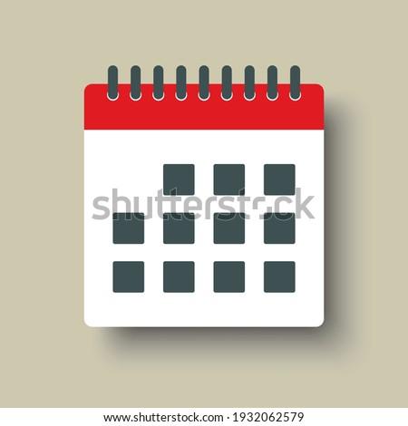 Icon page calendar schedule. Agenda app, business deadline, date page icon. Reminder, schedule line simple sign. Organizer concept.