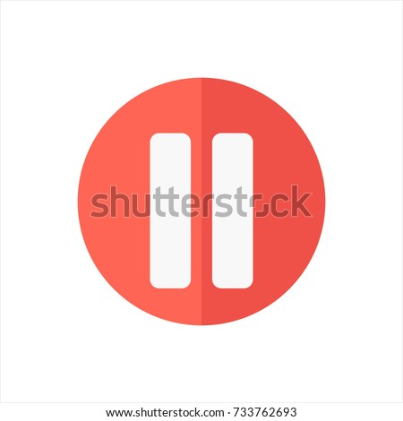 Icon Pause in trendy flat style isolated on white background. Pause icon symbol for your web site design,Pause logo, app, UI. Vector illustration, Pause icon eps10.