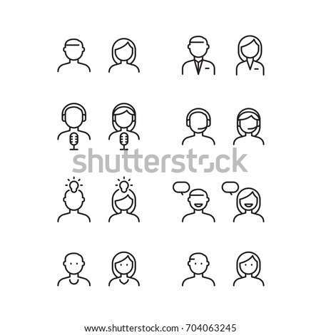 icon people, vector