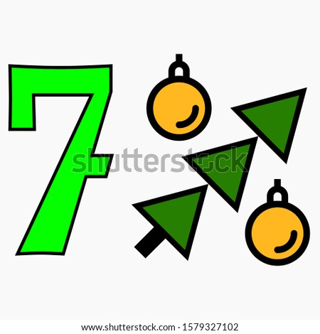 Icon 7 percent gifts for the New Year. Increase in the percentage of bank deposits at Christmas. Increased holiday benefits. Percentage of benefits like Christmas trees with balls.