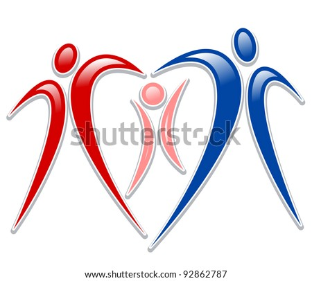 icon person - symbol family holding hands