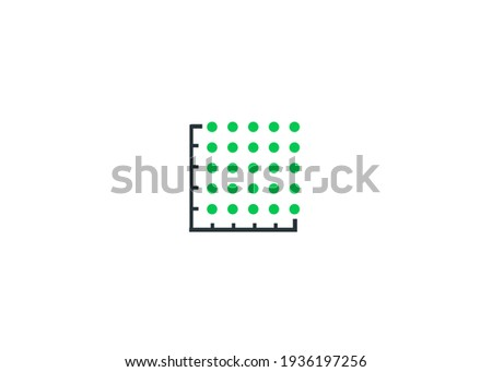 icon plot area in acres, square metres, kilometres, feet, yards, miles, hectare, are. Vector dimension area size icon Foto stock ©