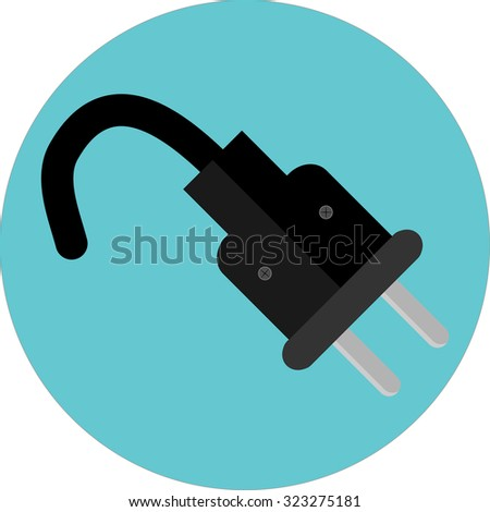 icon plug electricity power